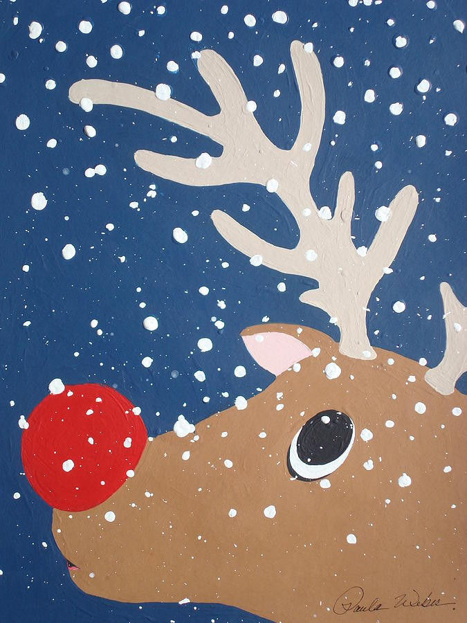 Christmas Painting Ideas For Kids  RETRO KIMMER S BLOG RUDOLPH THE RED NOSED REINDEER THE