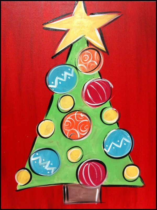 Christmas Painting Ideas For Kids  18 Easy Christmas Canvas Painting Ideas for Kids mybabydoo