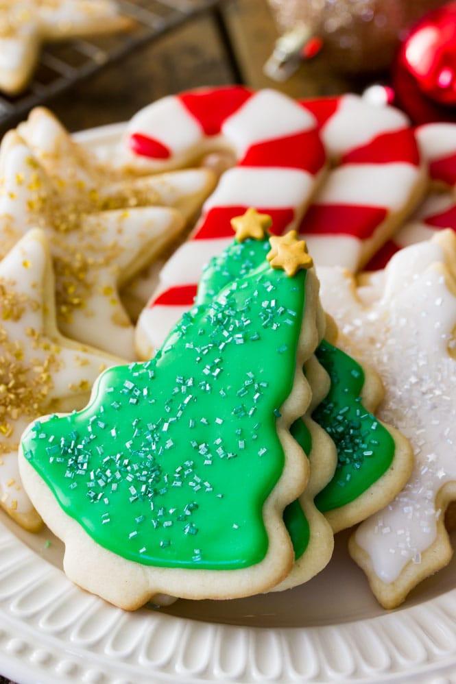 Christmas Sugar Cookies Recipe  Easy Sugar Cookie Recipe With Frosting Sugar Spun Run