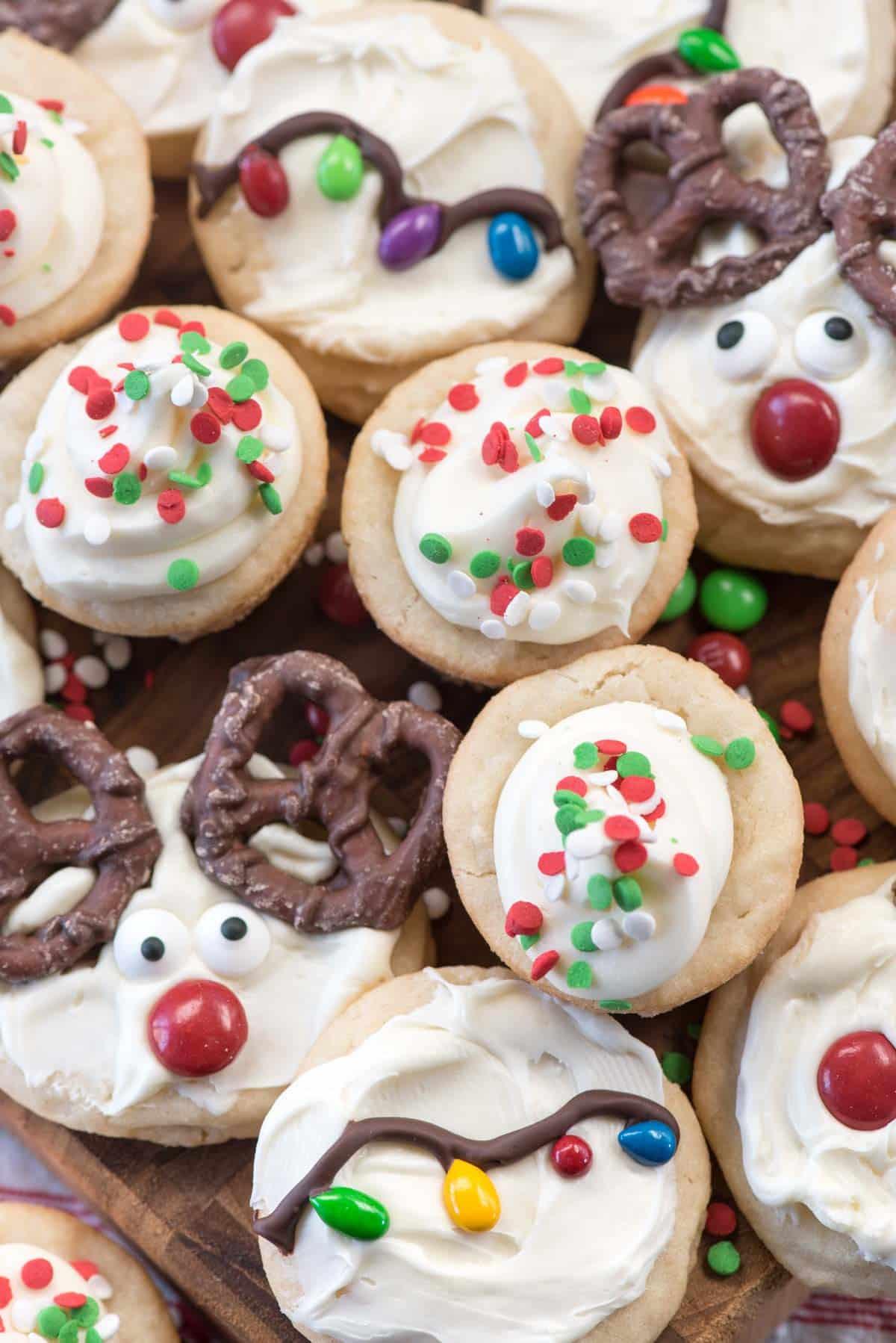Christmas Sugar Cookies Recipe  Christmas Sugar Cookies 3 ways Crazy for Crust