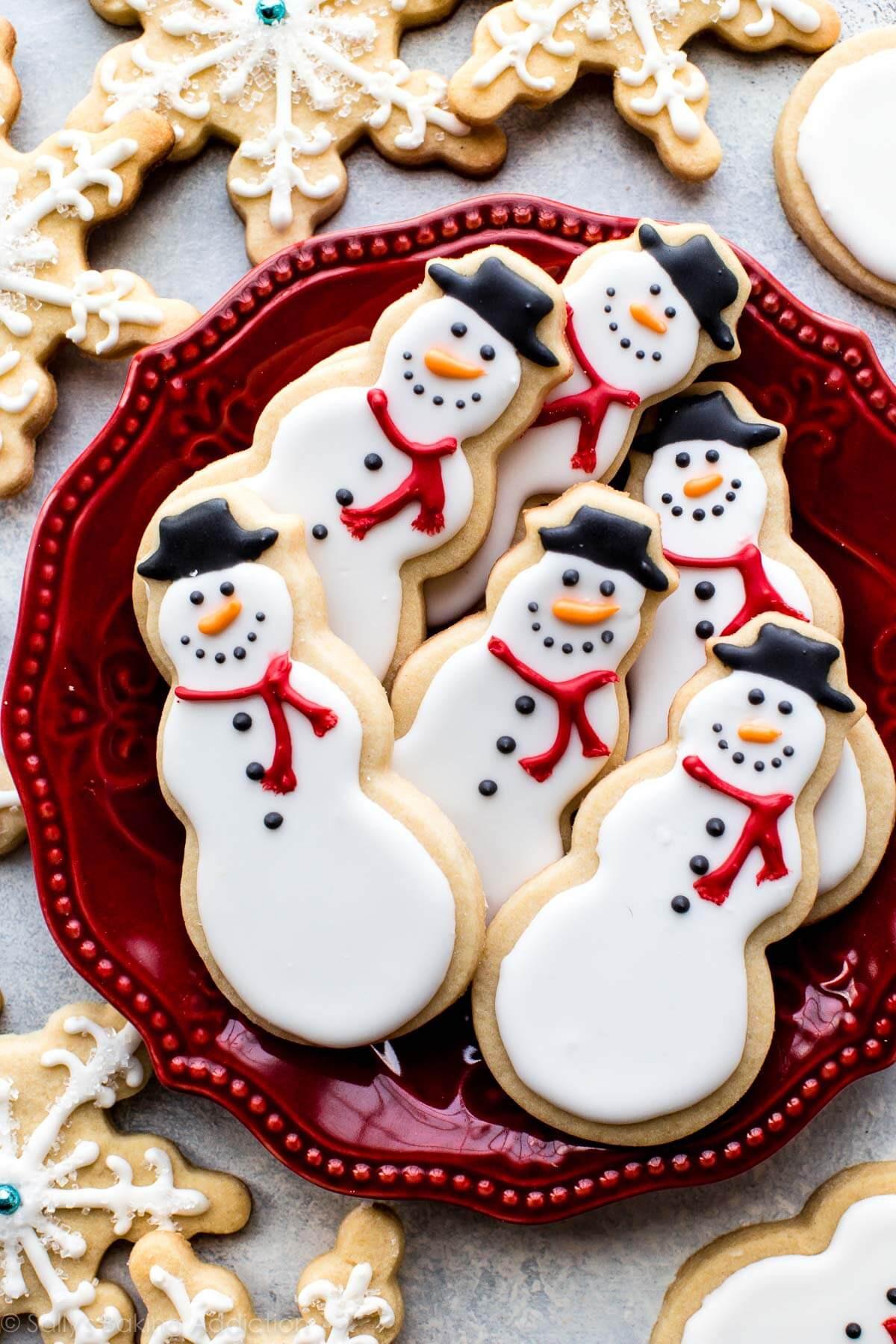 Christmas Sugar Cookies Recipe  Snowman Sugar Cookies