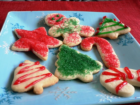 Christmas Sugar Cookies Recipe  Christmas Cutout Sugar Cookies Recipe Food Network