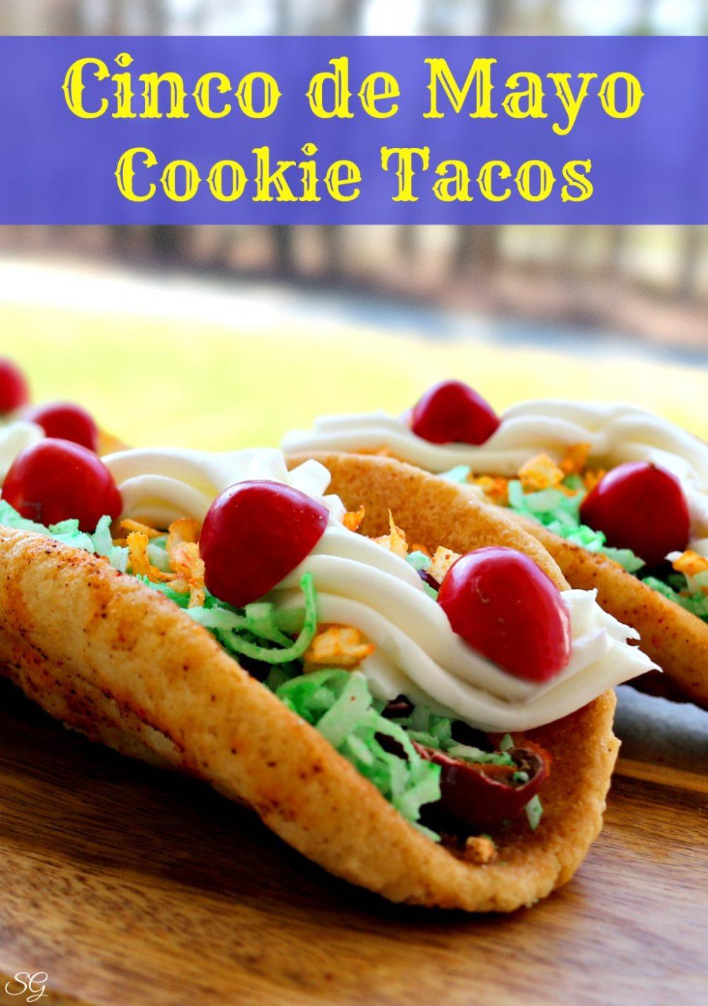 Cinco De Mayo Dessert Recipes  Taco Cookies for Cinco de Mayo Scrappy Geek
