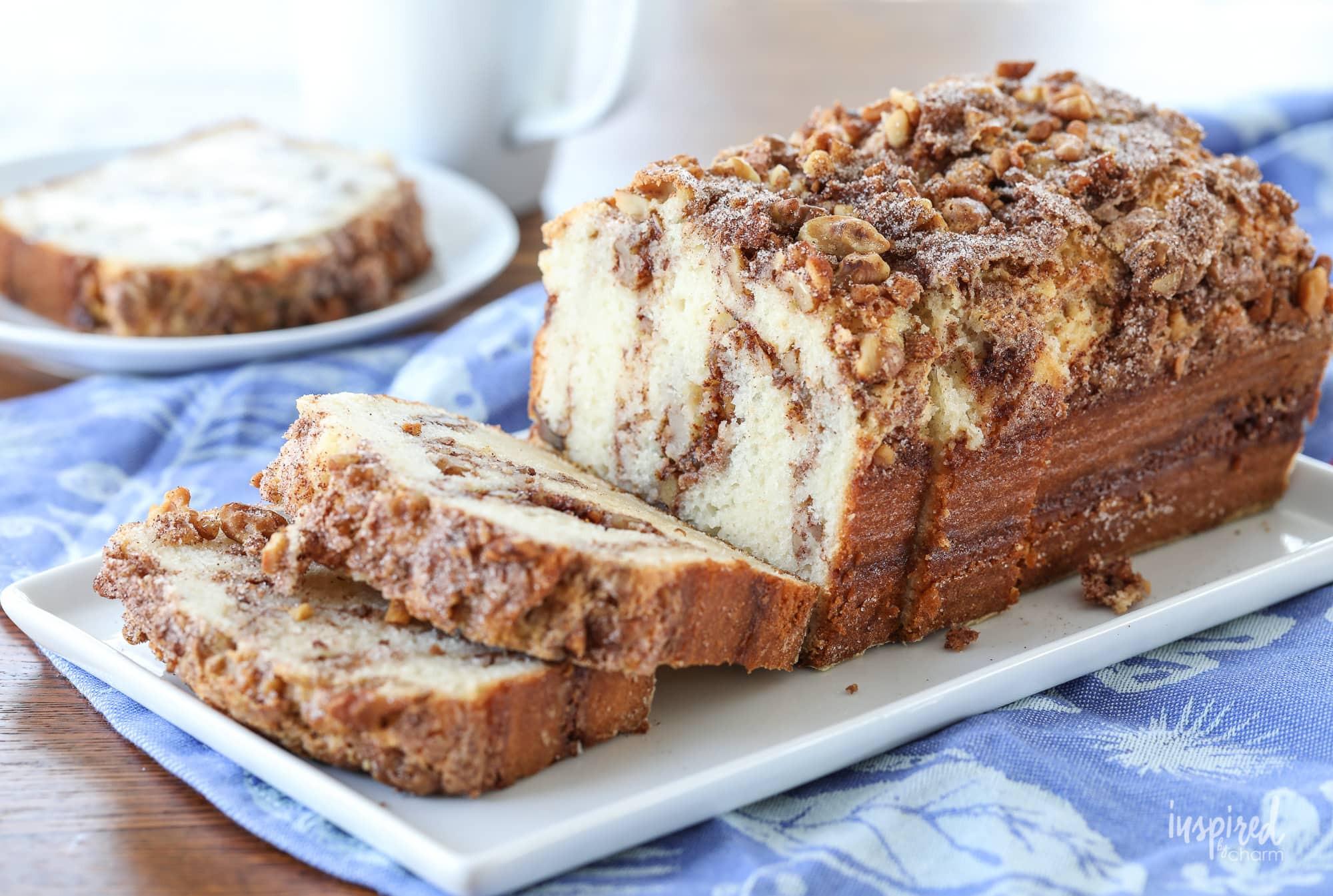 Cinnamon Quick Bread  Cinnamon Nut Quick Bread easy and delcious recipe