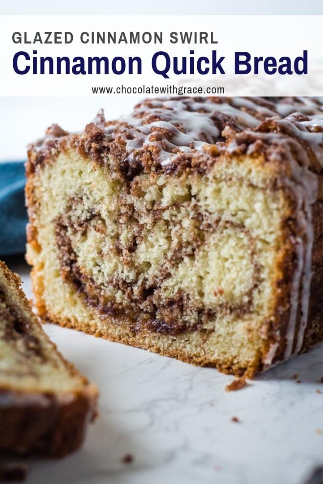 Cinnamon Quick Bread  Cinnamon Roll Quick Bread Chocolate With Grace