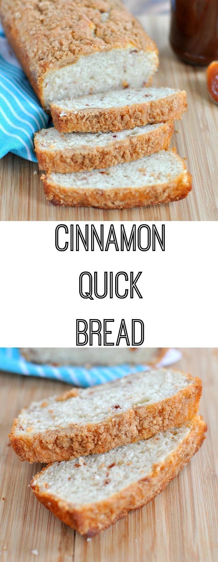 Cinnamon Quick Bread  Cinnamon Quick Bread Recipe My Suburban Kitchen