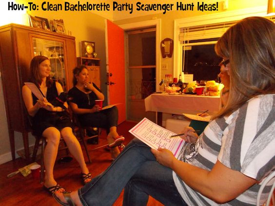 Clean Bachelorette Party Ideas  Clean Bachelorette Party Scavenger Hunt Ideas