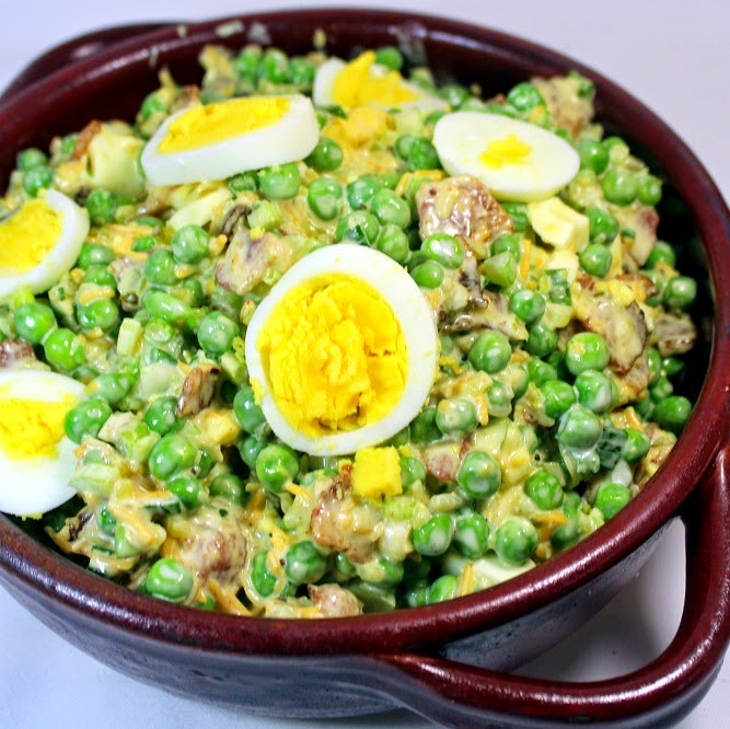 Cold Vegetarian Potluck Recipes  52 Ways to Cook Pea and Bacon Salad OLD SCHOOL Side