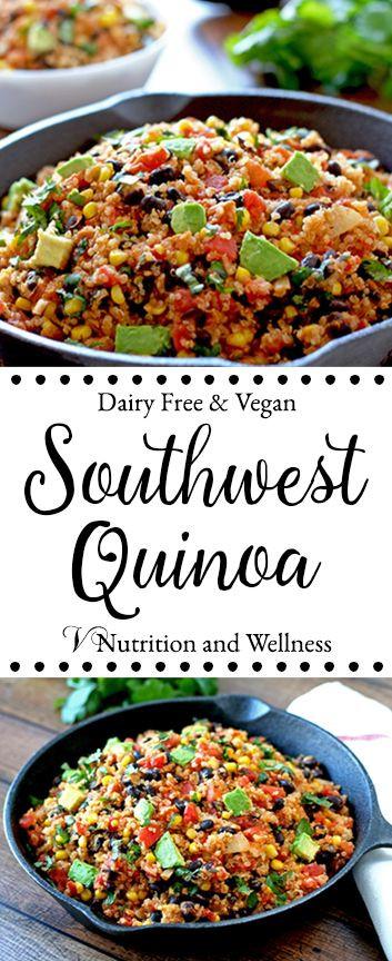 Cold Vegetarian Potluck Recipes  Southwest Quinoa Recipe