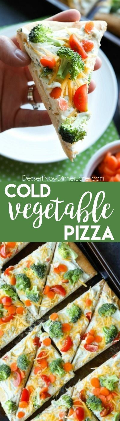 Cold Vegetarian Potluck Recipes  This cold ve able pizza is the ultimate party appetizer