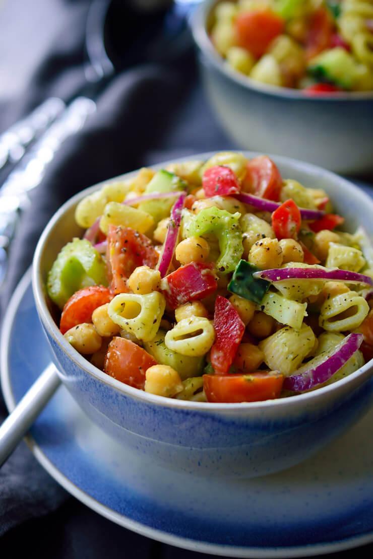 Cold Vegetarian Potluck Recipes  27 Cold Vegan Pasta Salad Recipes for Summer
