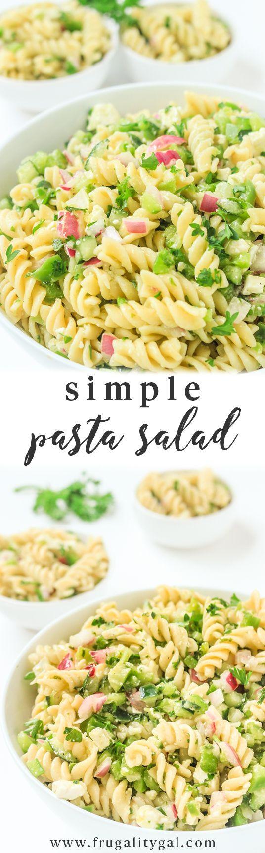 Cold Vegetarian Potluck Recipes  Easy Pasta Salad Recipe Cold Pasta Salad Recipes Cold