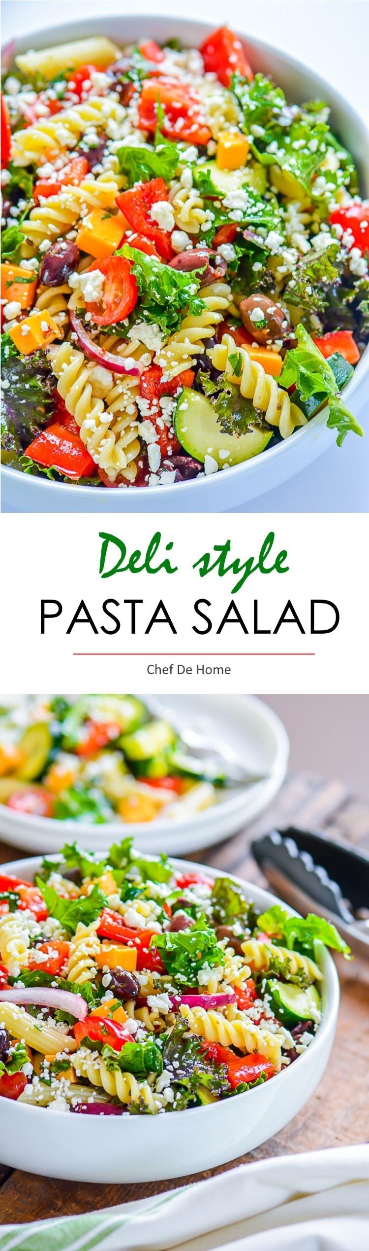 Cold Vegetarian Potluck Recipes  Deli Style Pasta Salad with Kale Recipe