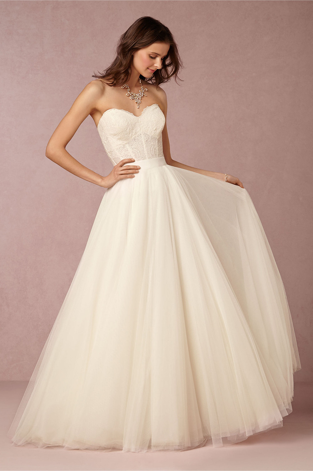 Corset Wedding Gown  Fancy Friday BHLDN Wedding Gowns
