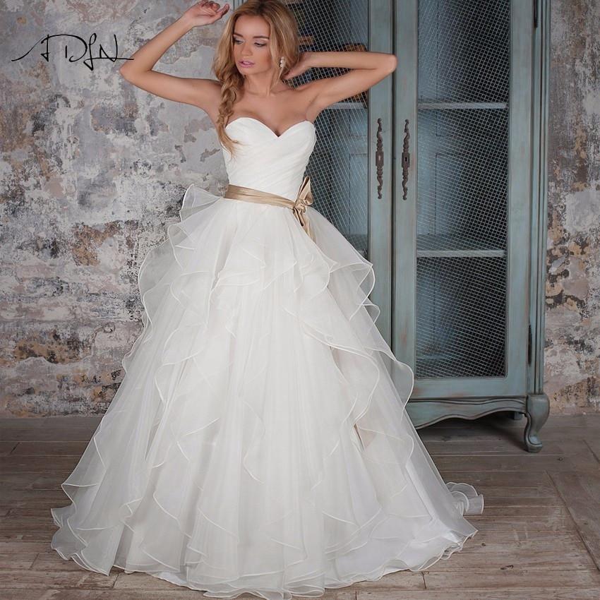 Corset Wedding Gown  ADLN Corset Wedding Dresses Ruffled Organza Custom Made