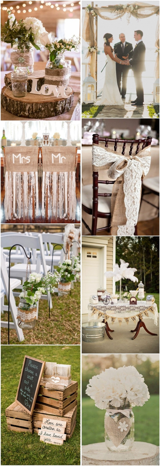 Country Themed Wedding Favors  45 Chic Rustic Burlap & Lace Wedding Ideas and Inspiration