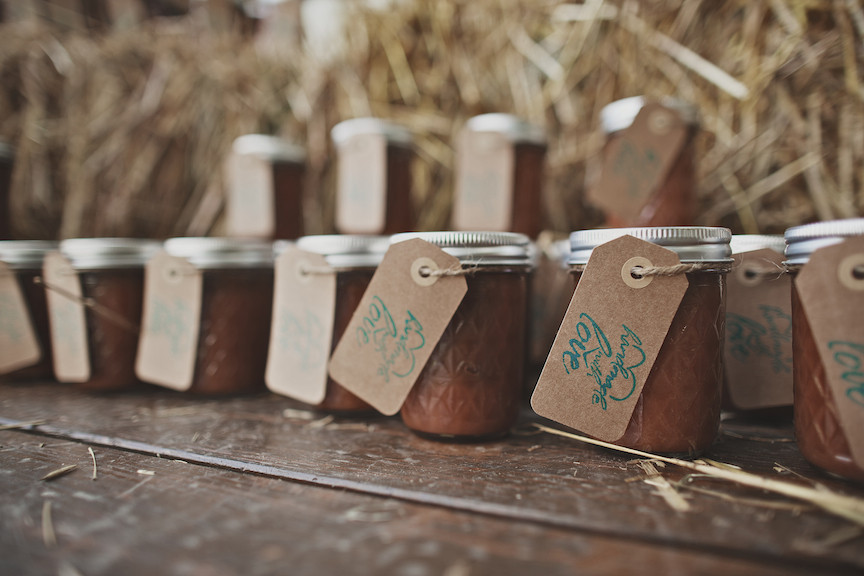 Country Themed Wedding Favors  Farm Wedding With Blue Color Theme Rustic Wedding Chic