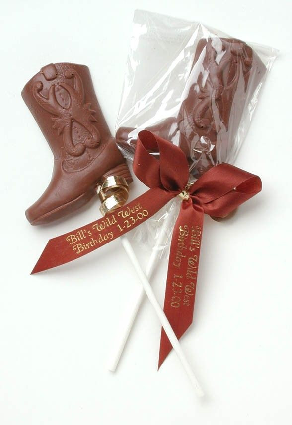 Country Themed Wedding Favors  Chocolate Cowboy Boot Western Favors $2 90