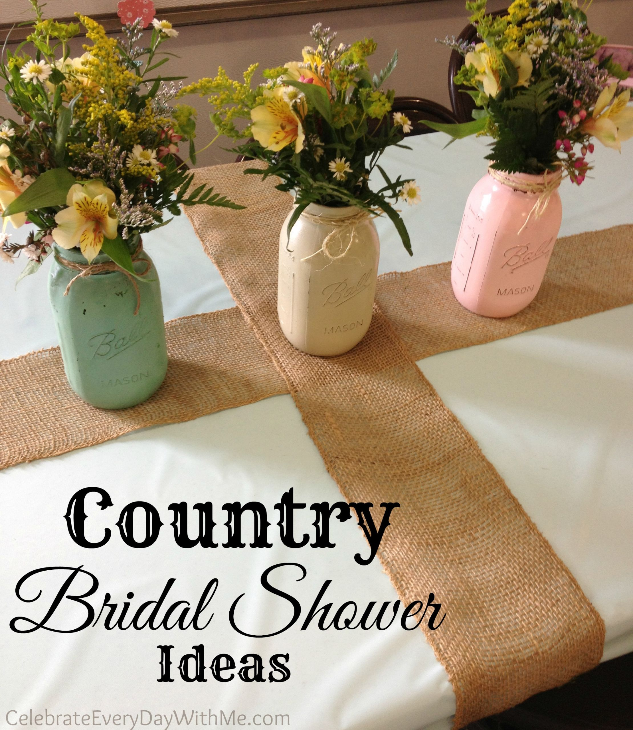 Country Themed Wedding Favors  Country Bridal Shower Ideas Celebrate Every Day With Me