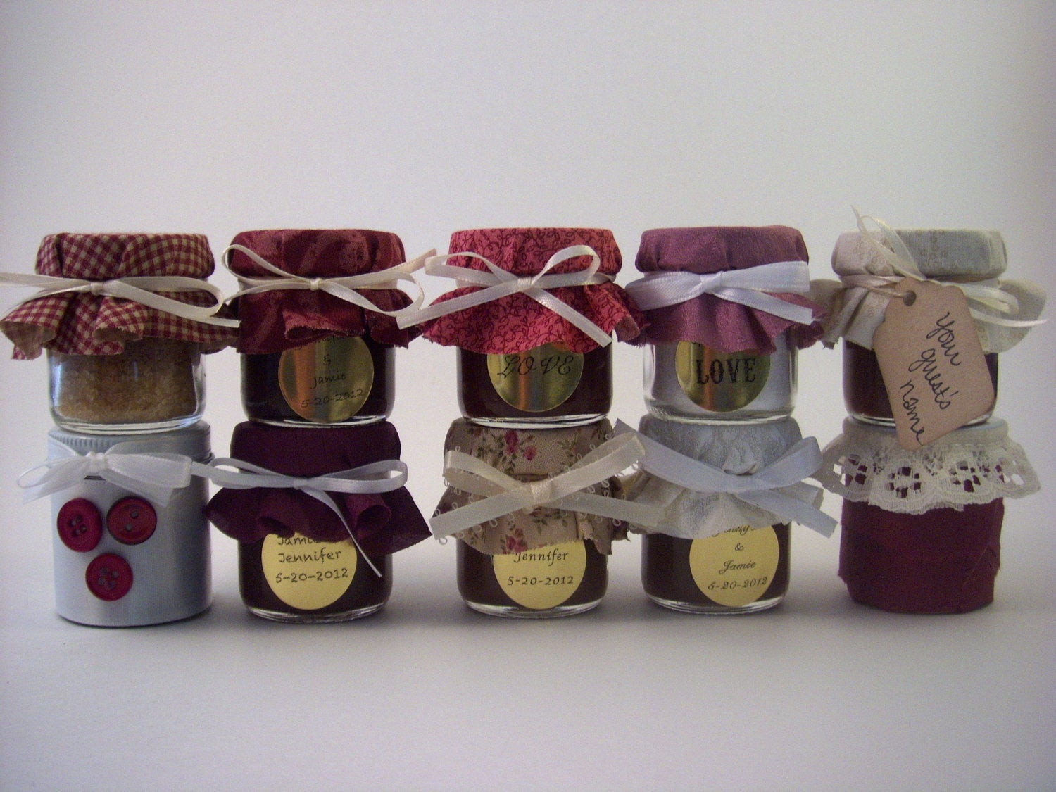 Country Themed Wedding Favors  Vintage Country Garden Themed Wedding Favors in Purple