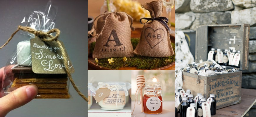 Country Themed Wedding Favors  Country Rustic Themed Wedding Favours