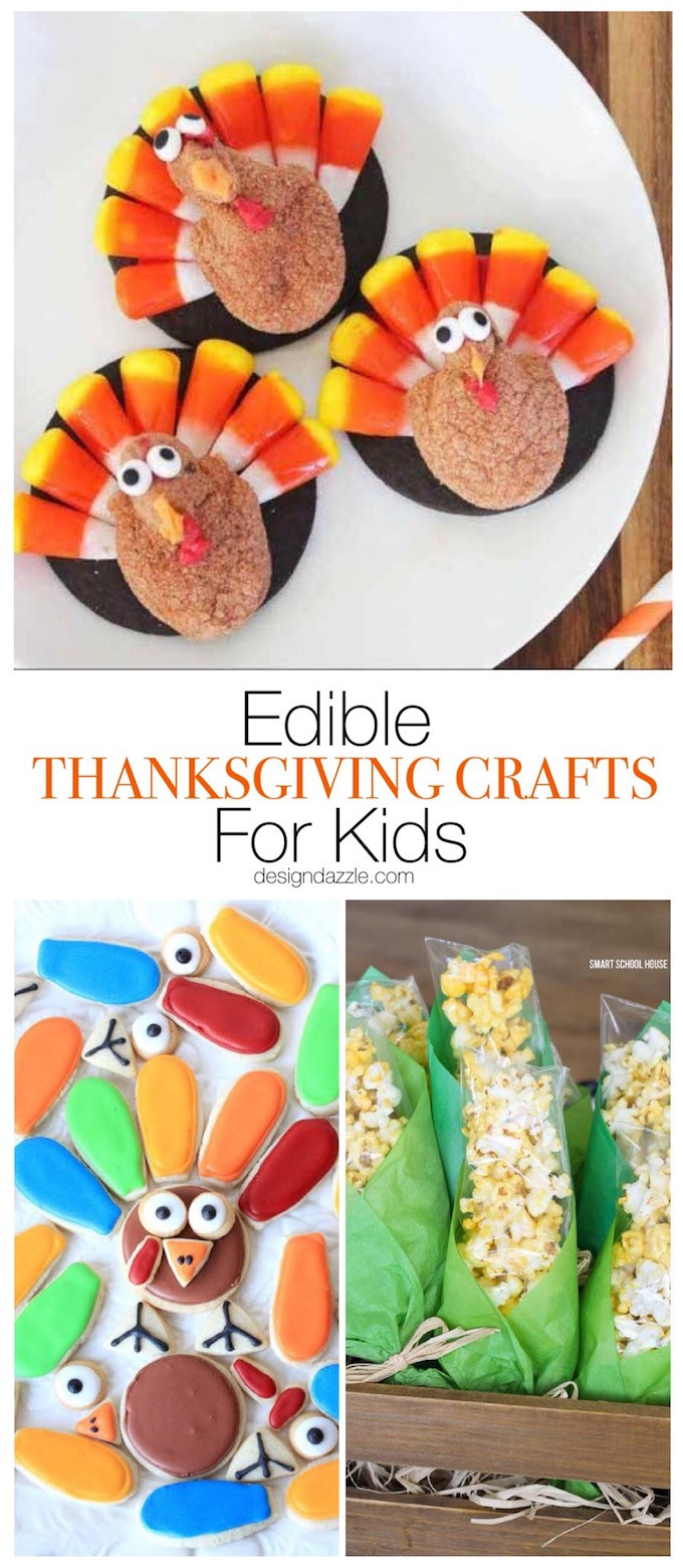 Craft For Kids  Edible Thanksgiving Crafts For Kids Design Dazzle