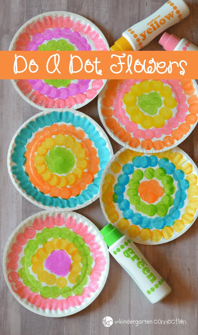 Craft For Kids  Do a Dot Flower Craft for Kids Preschool Spring Craft
