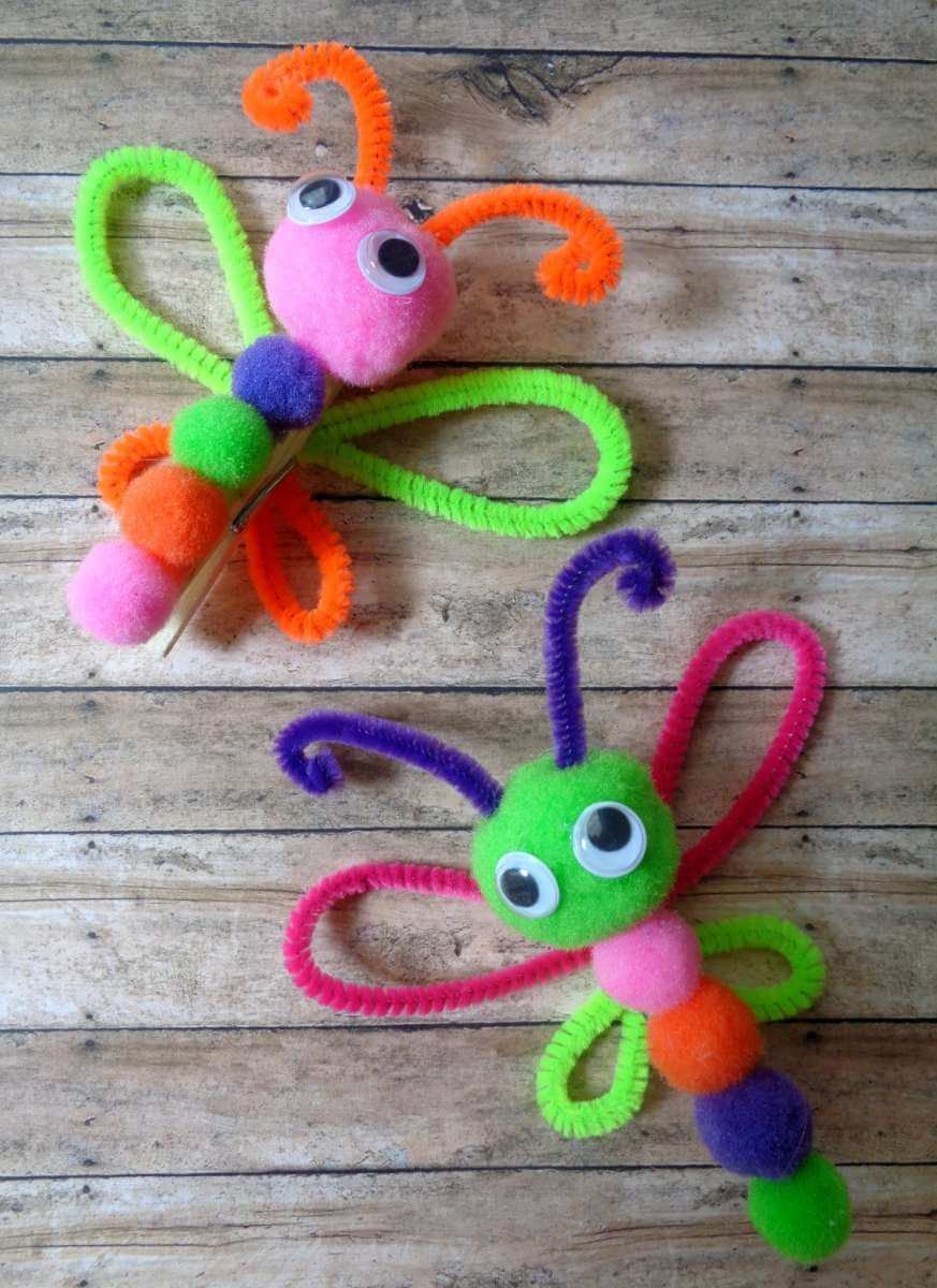 Craft For Kids  Clothes Pin Butterfly Magnet Craft For Kids · The