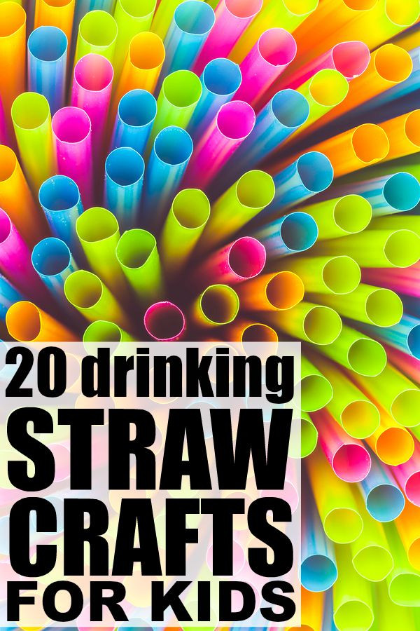 Craft For Kids  20 drinking straw crafts for kids