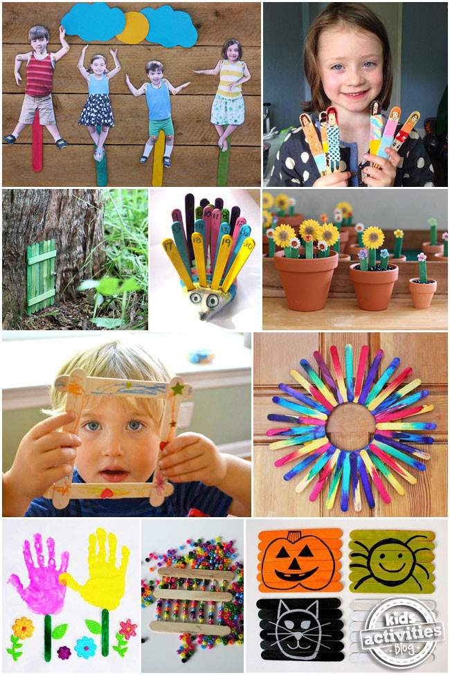 Craft Project For Toddler  30 Popsicle Stick Crafts For Kids Kids Activities Blog
