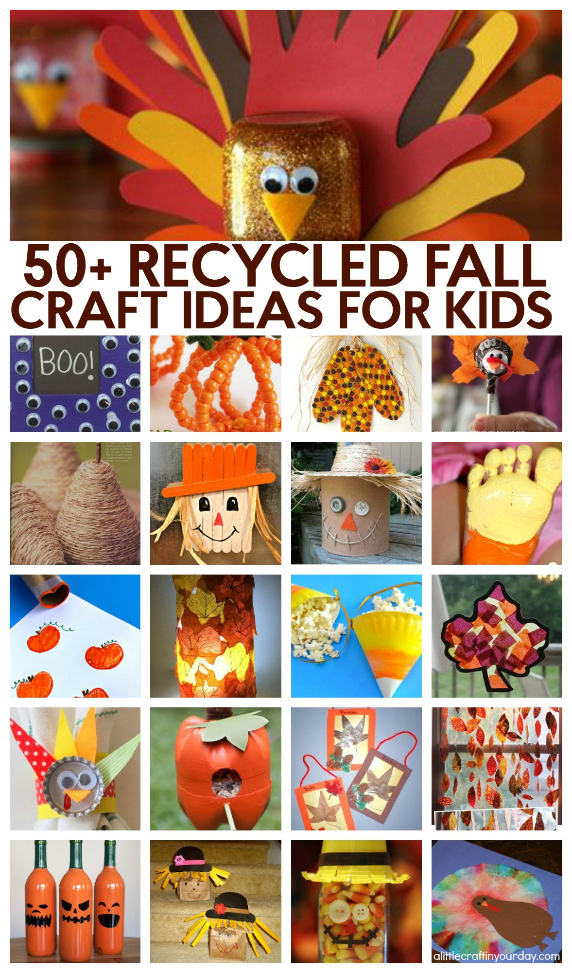 Craft Project For Toddler  51 Recycled Fall Kids Crafts A Little Craft In Your DayA