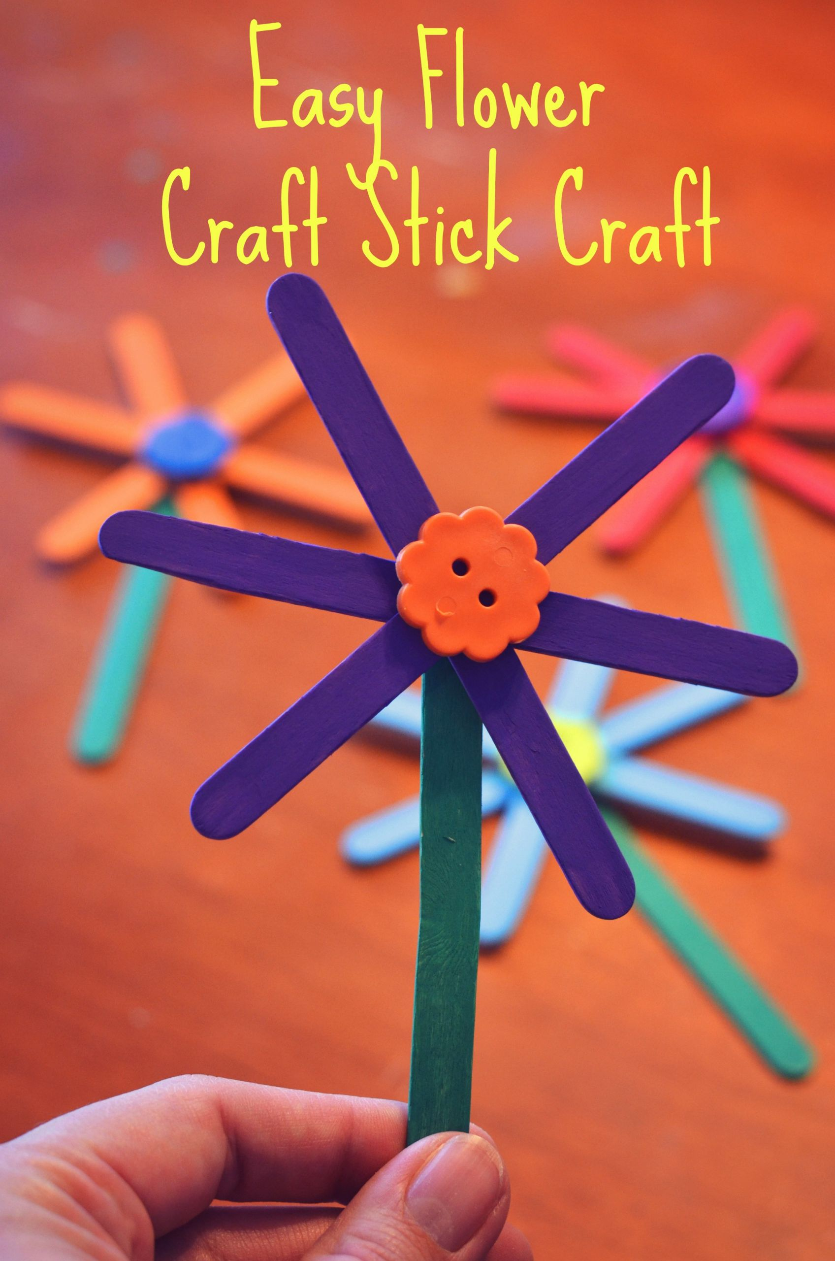 Craft Project For Toddler  Easy Flower Craft Stick Craft for Kids