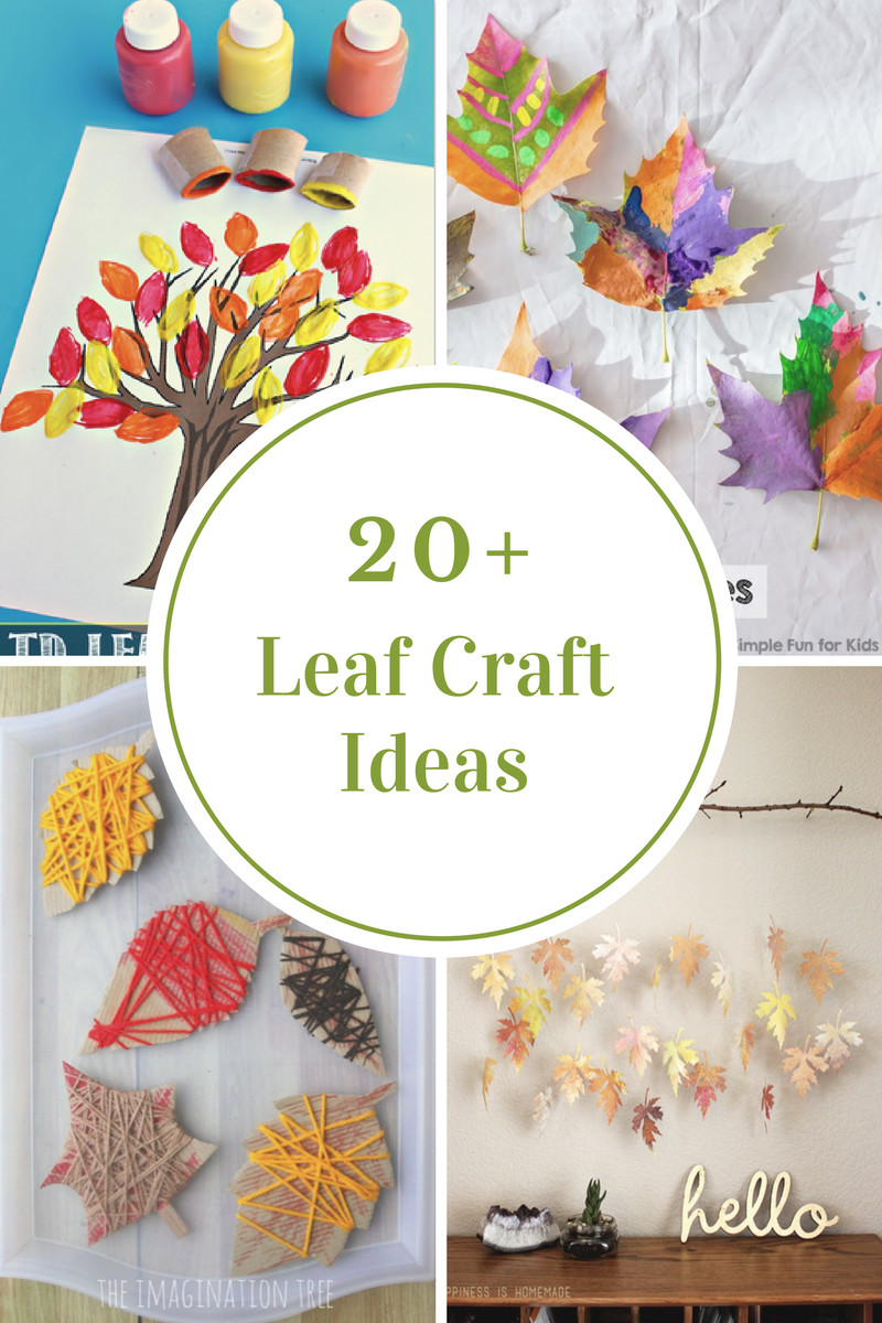 Craft Project For Toddler  Leaf Crafts for Kids The Idea Room