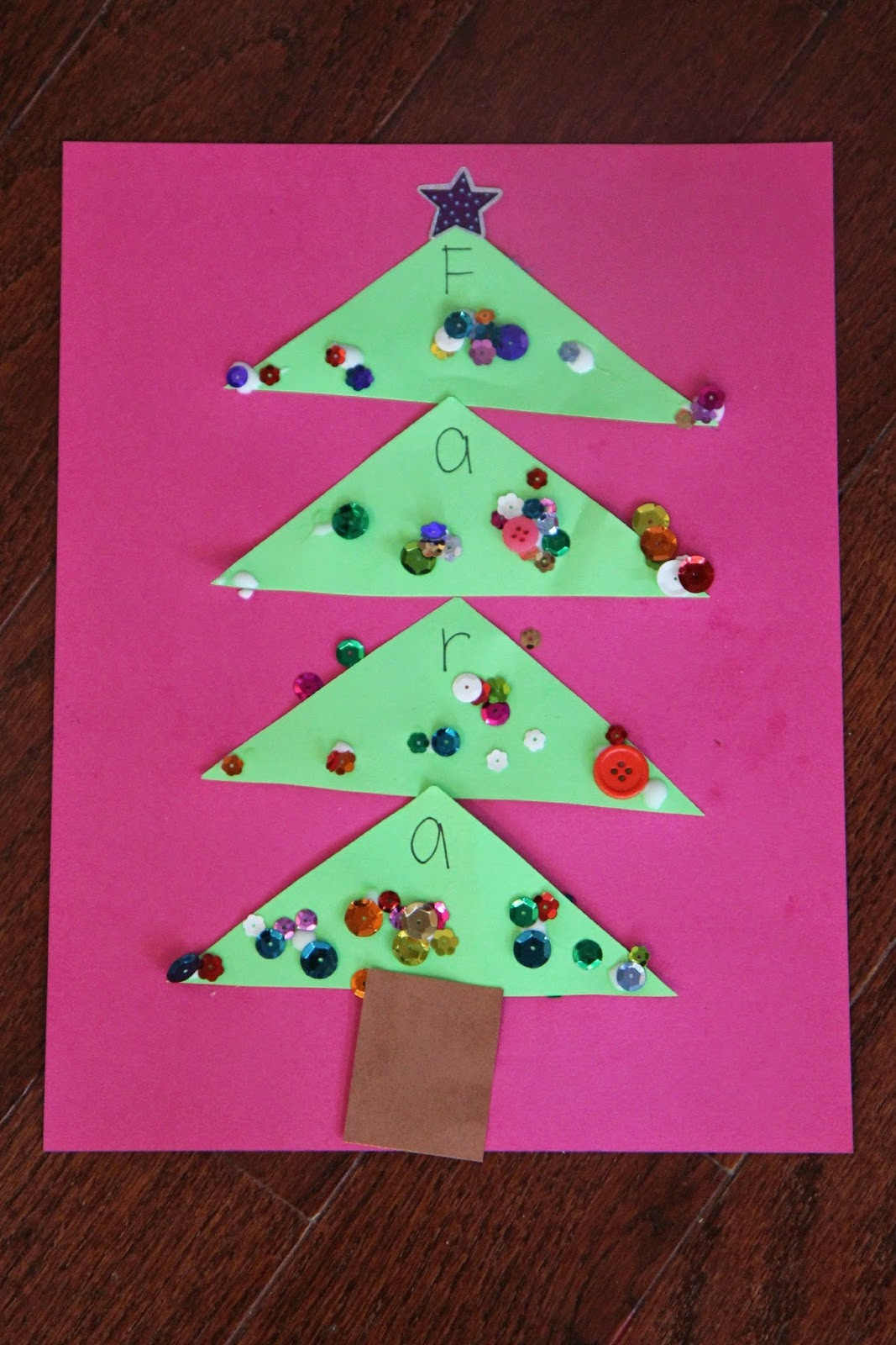 Craft Project For Toddler  Toddler Approved Sparkly Name Christmas Tree Craft for Kids
