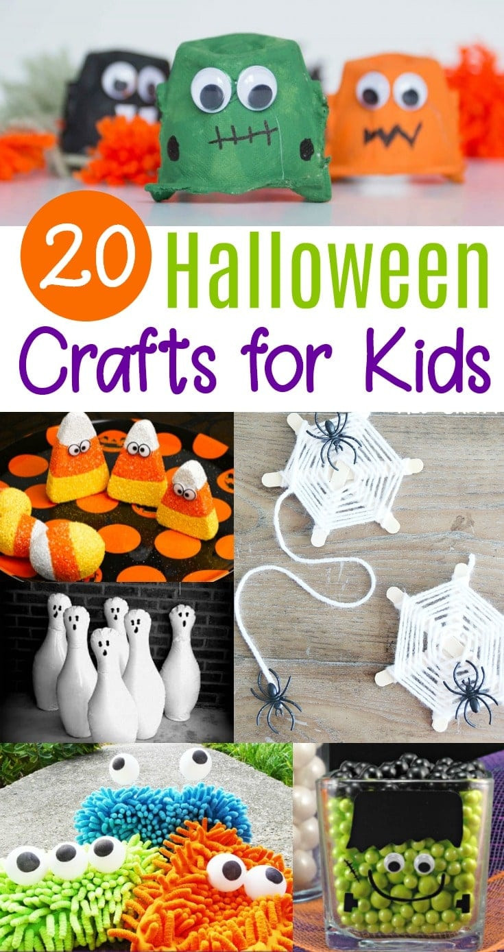 Craft Project For Toddler  20 Cute & Easy Halloween Crafts for Kids