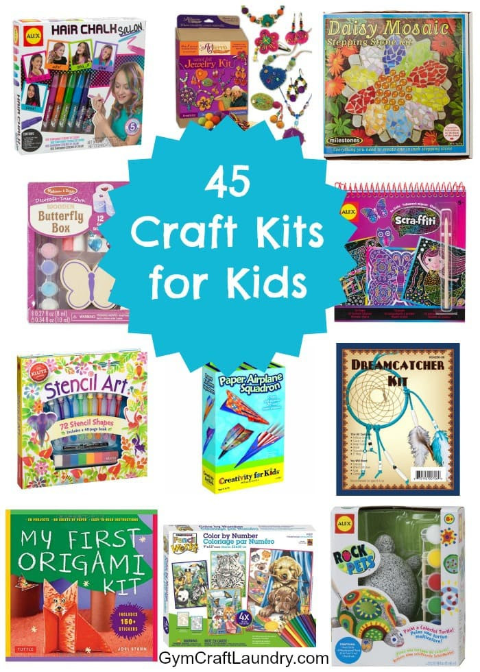 Crafts Kits For Kids  45 Fun Craft Kits for Kids Gym Craft Laundry