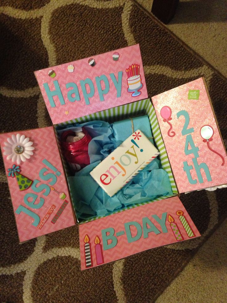 Creative Gift Ideas For Best Friend  Best friend birthday box Decorate the inside of the box