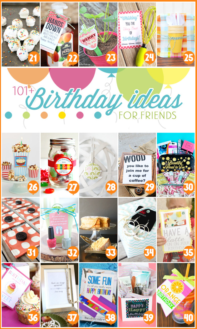 Creative Gift Ideas For Best Friend  101 Creative & Inexpensive Birthday Gift Ideas