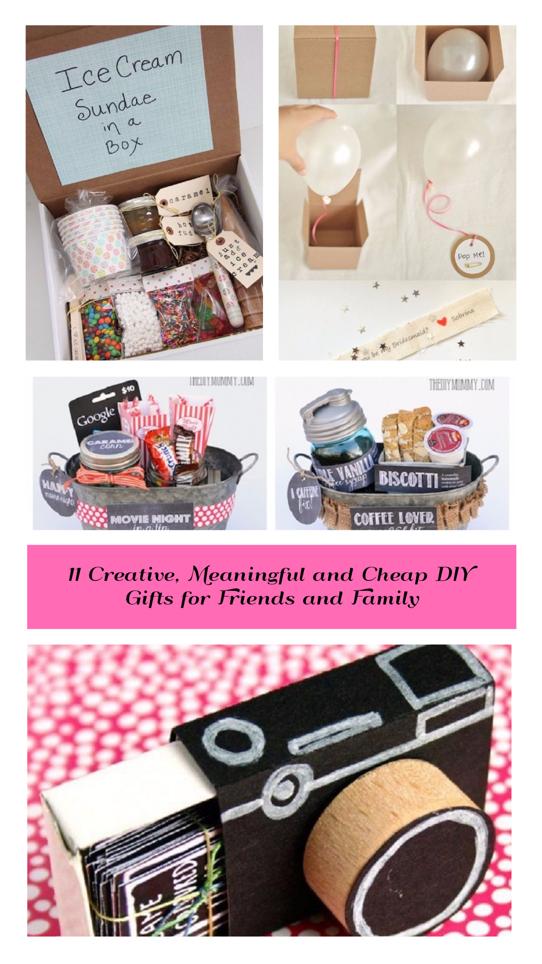 Creative Gift Ideas For Best Friend  11 Creative Meaningful and Cheap DIY Gifts for Friends