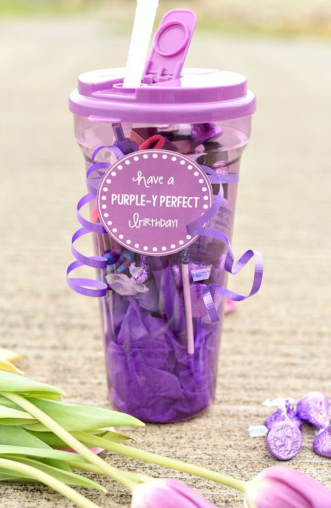 Creative Gift Ideas For Best Friend  Purple Themed Birthday Gift for Friends