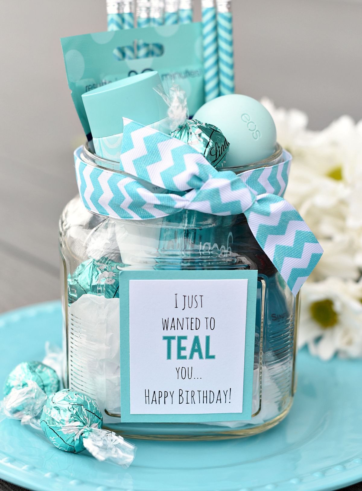Creative Gift Ideas For Best Friend  Teal Birthday Gift Idea for Friends