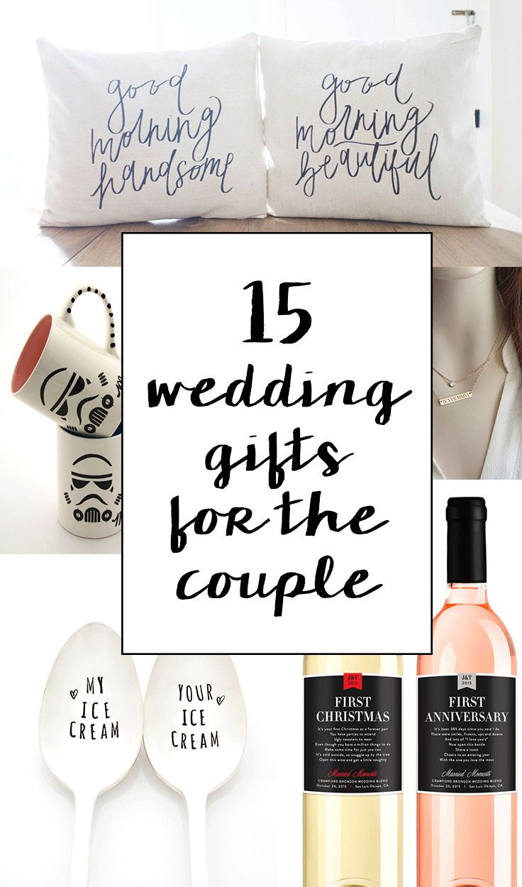 Creative Gift Ideas For Couples  15 Sentimental Wedding Gifts for the Couple
