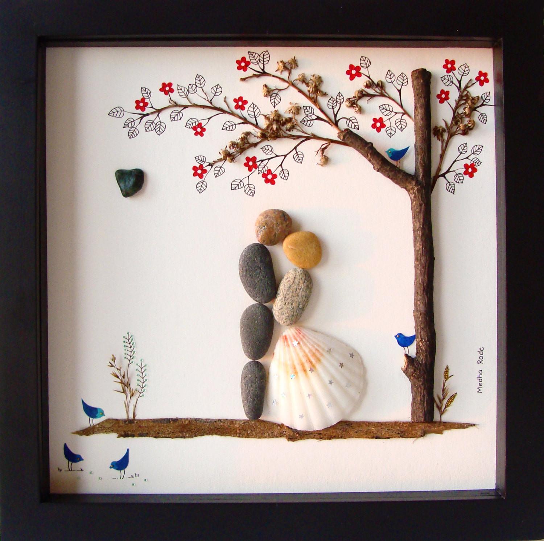 Creative Gift Ideas For Couples  Unique WEDDING Gift Customized Wedding Gift Pebble Art Unique