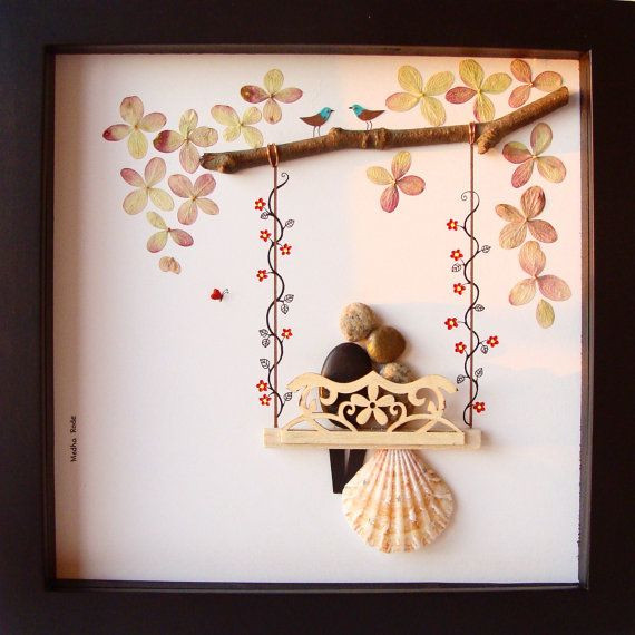Creative Gift Ideas For Couples  Unique WEDDING Gift Customized Wedding Gift Pebble Art