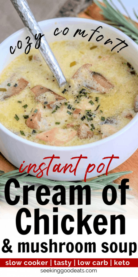 Crockpot Chicken Recipes With Cream Of Mushroom Soup  Crockpot Cream of Chicken and Mushroom Soup Keto Soup
