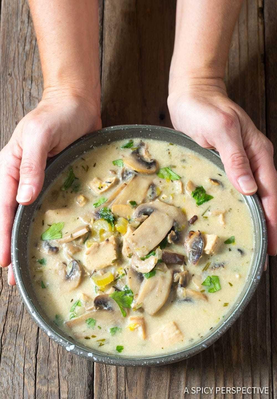 Crockpot Chicken Recipes With Cream Of Mushroom Soup  Low Carb Creamy Chicken Mushroom Soup