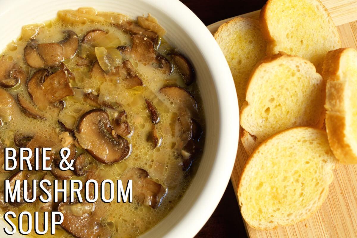 Crockpot Chicken Recipes With Cream Of Mushroom Soup  Creamy Crock Pot Mushroom & Brie Soup Recipe