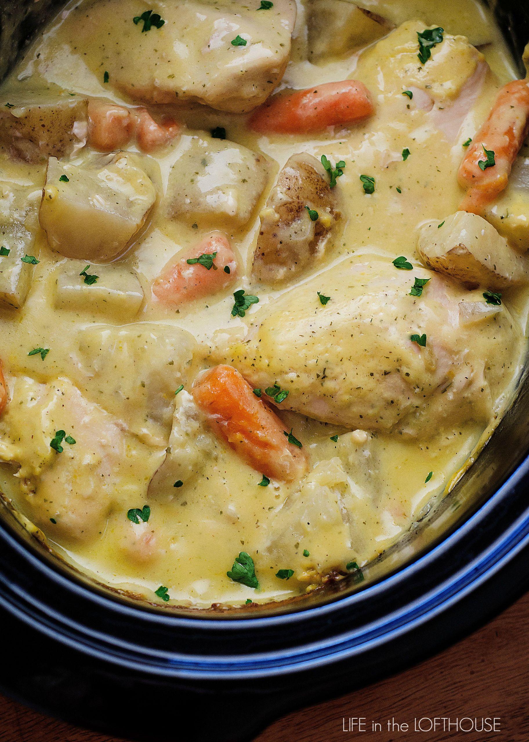 Crockpot Chicken Recipes With Cream Of Mushroom Soup  Crock Pot Creamy Ranch Chicken