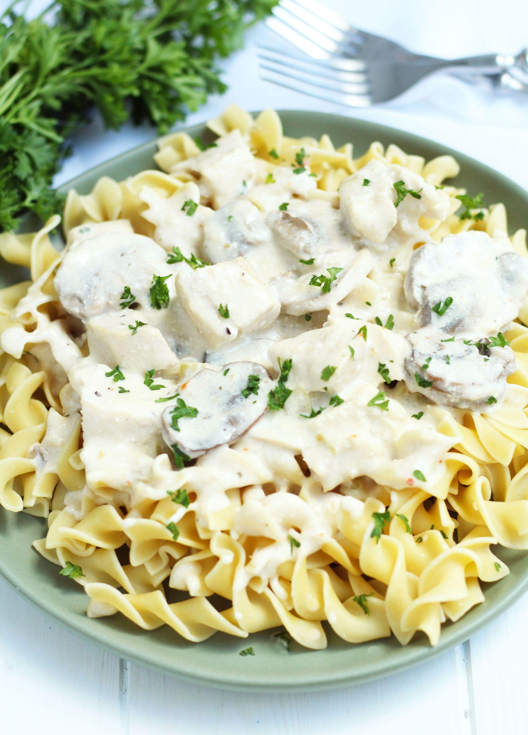 Crockpot Chicken Recipes With Cream Of Mushroom Soup  Crockpot Chicken Stroganoff 3 Yummy Tummies