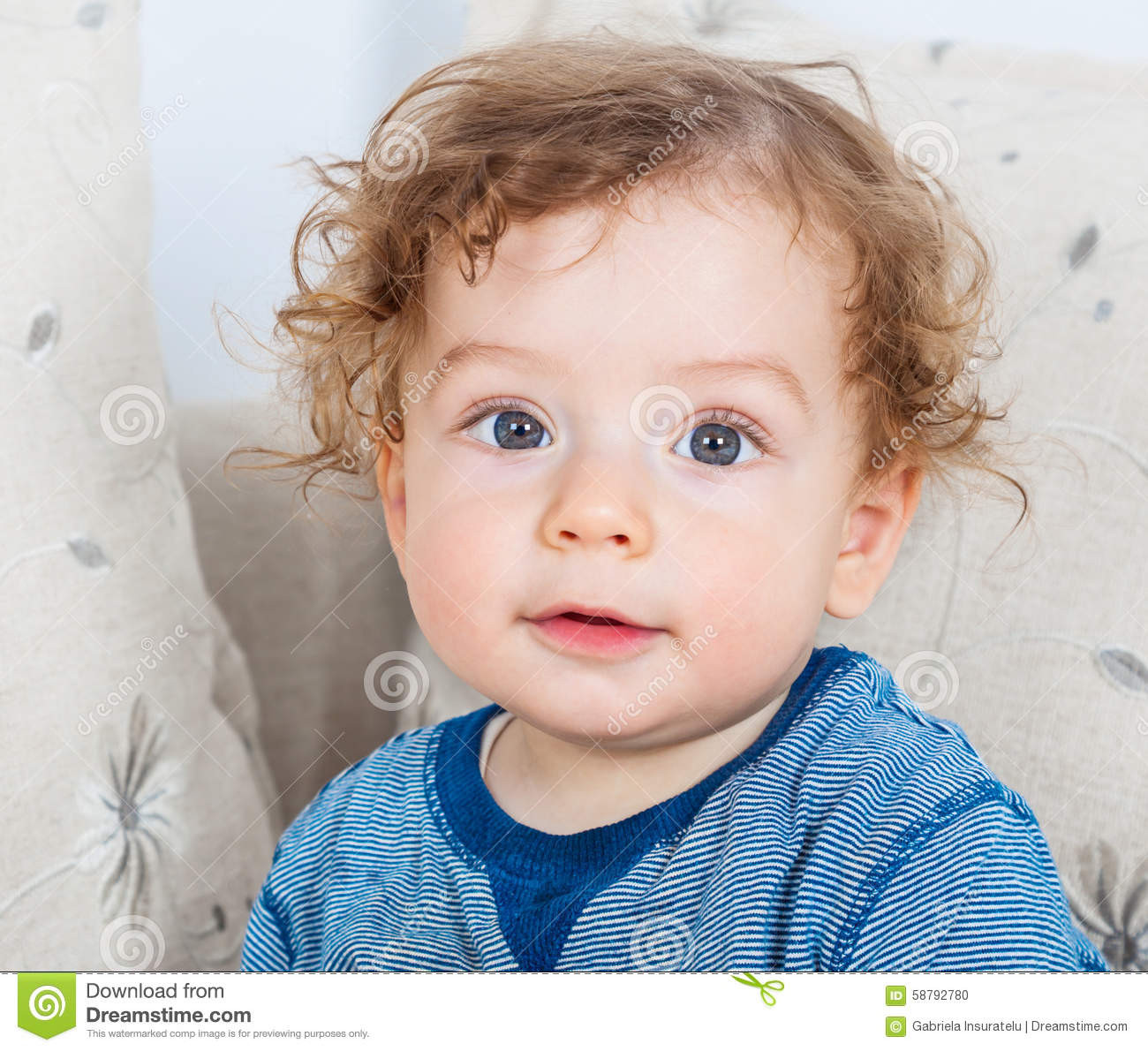 Curly Hair Baby Boys  Baby boy with curly hair stock photo Image of emotion